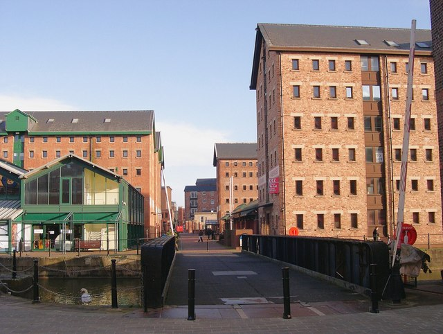 Converted warehouses, Gloucester Docks