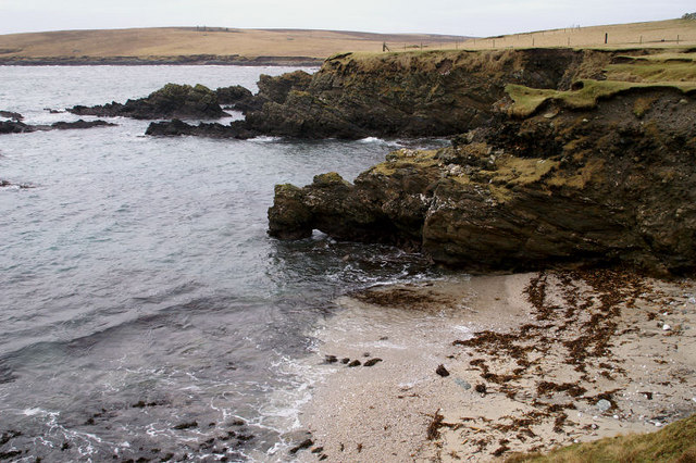 Beaches on the west of the Ness of Ramnageo