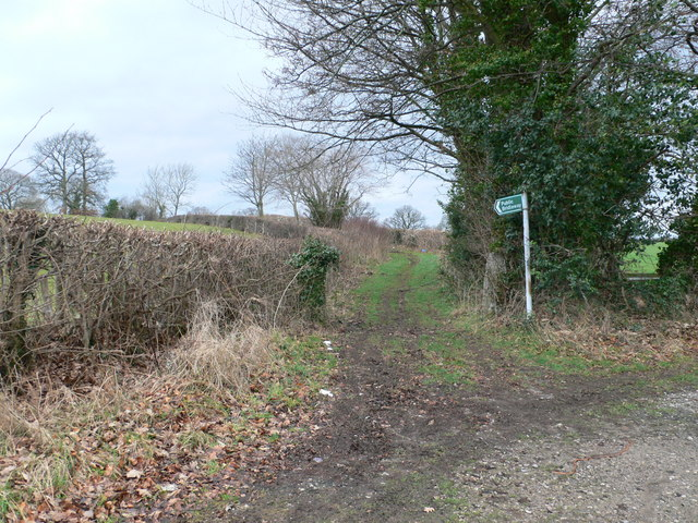 Bridleway off the A525