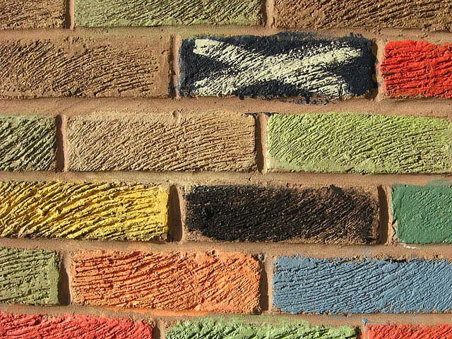 Brickwork graffiti