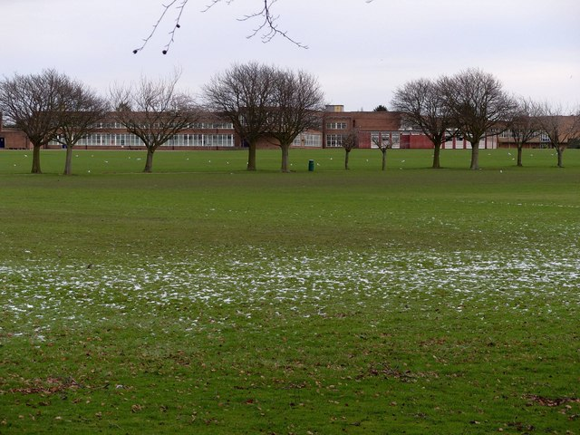 The Hewett School, Norwich, from the playing fields