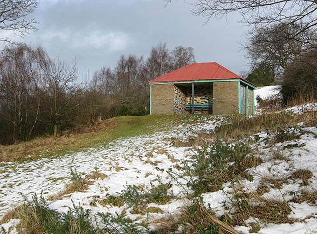A shelter on Selkirk Hill
