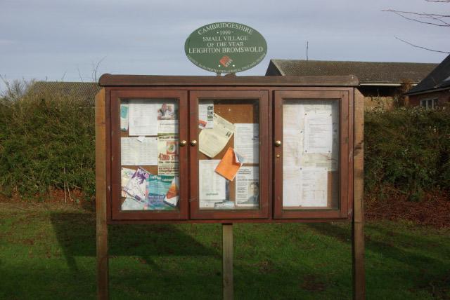 Village Notice Board, Leighton Bromswold