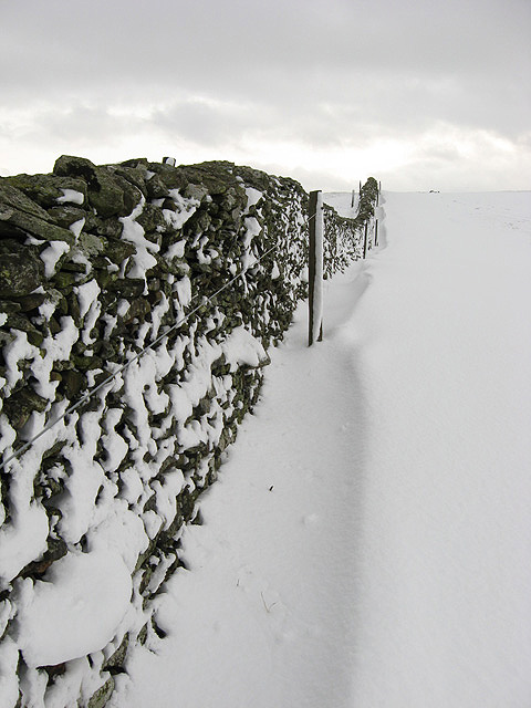 A dyke and snow drift
