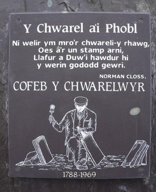 Y Chwarel a'i Phobl