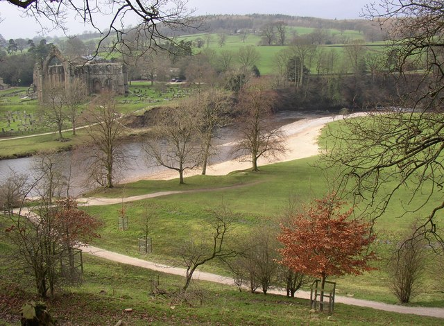 View of the River Wharfe, Hazlewood with Storiths
