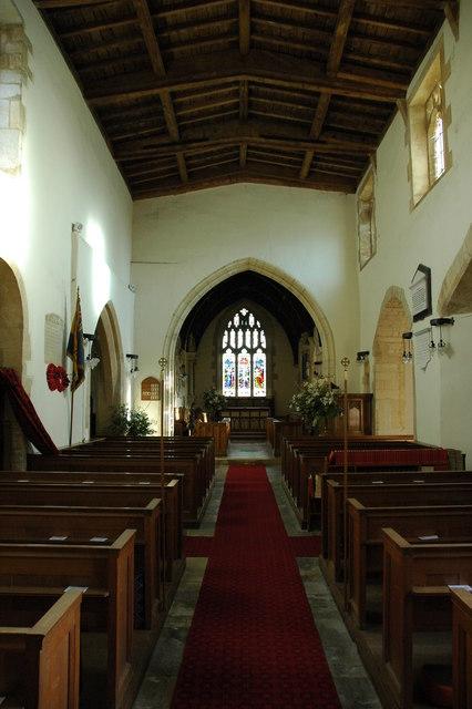 Interior of Dumbleton Church