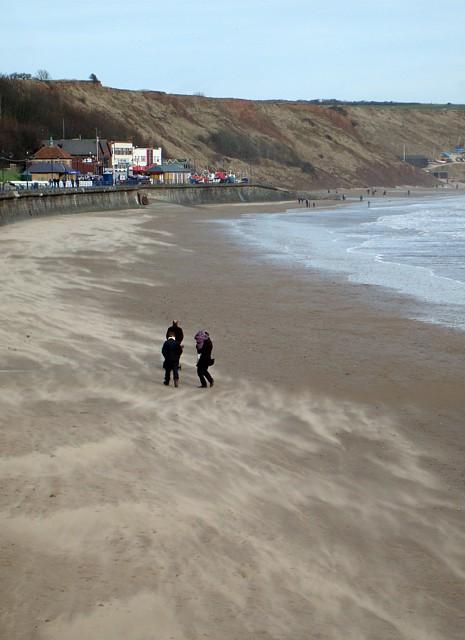 Windy day at Filey