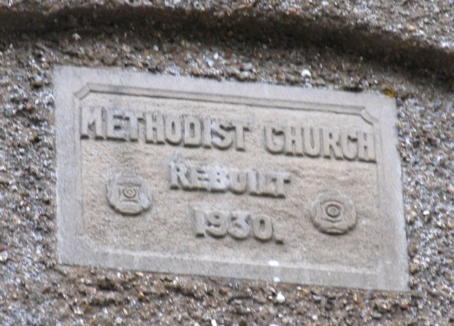 Plaque on Saltby Methodist Church
