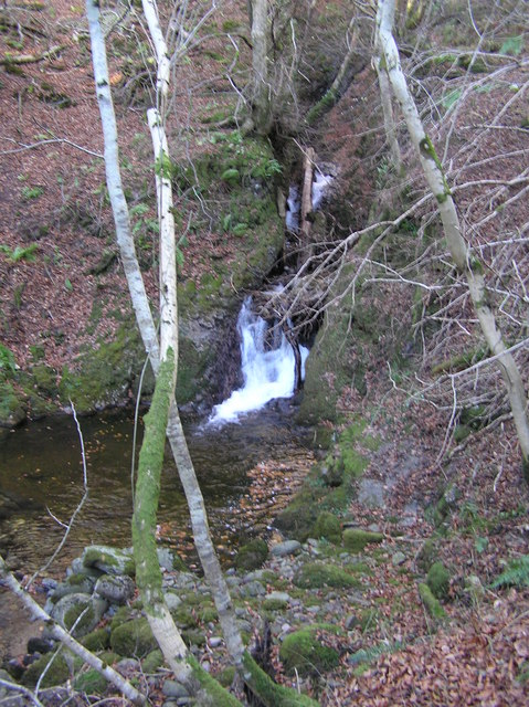 The end of the Falls of Keltie