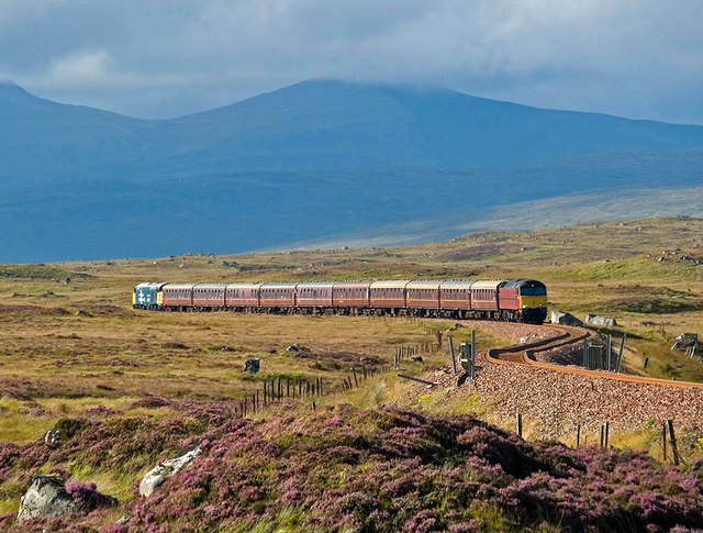A railtour returning from Fort William