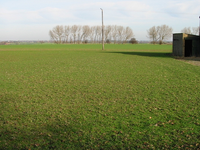 View across the fields at Knowlton