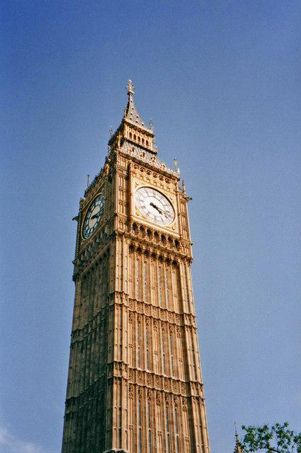 Big Ben Clock Tower, Westminster, London SW1