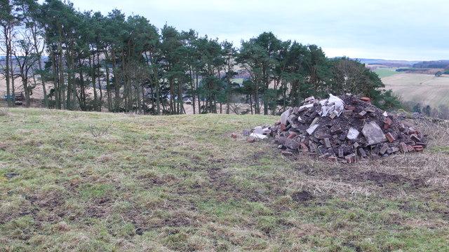 Stone midden above Davidston