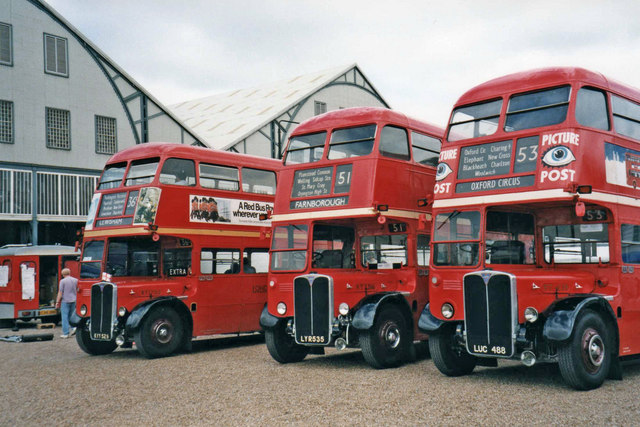 Buses at Chatham Historic Dockyard, Chatham, Kent