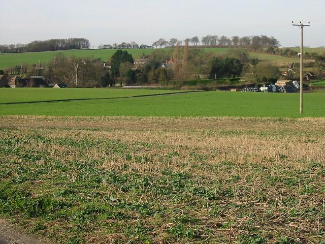 View of Chillenden from Sandwich Road