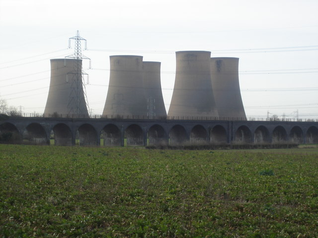 Viaduct with Cooling Towers