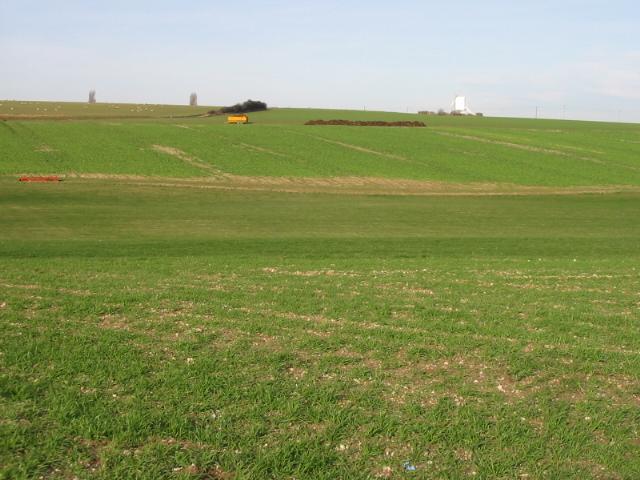 View across the fields near Chillenden