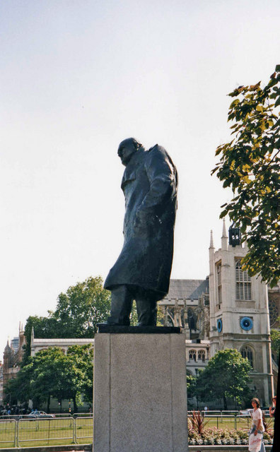Statue of Sir Winston Churchill, Parliament Square, Westminster, London SW1