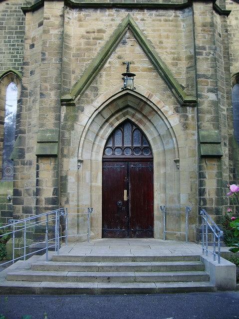 All Saints Church, Clayton-le-Moors, Doorway