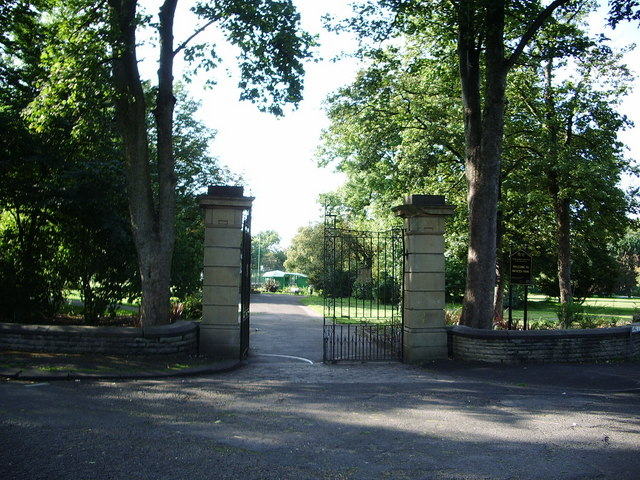 Entrance to Mercer Park, Clayton-le-Moors
