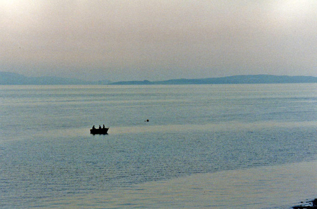 Looking across the Firth of Clyde from outside the Osborne Hotel, Innellan
