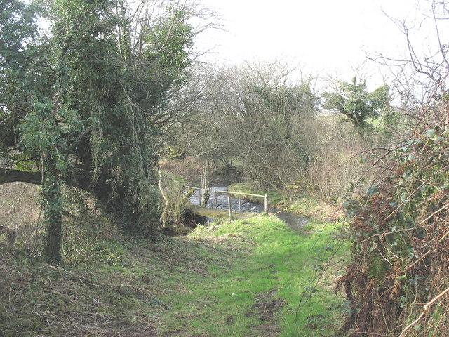 Green lane bridge over Afon Rhyd-hir