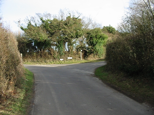 Junction with Long Lane on right