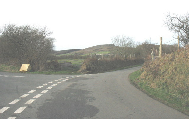 Road junction south of Cefn Tyddyn