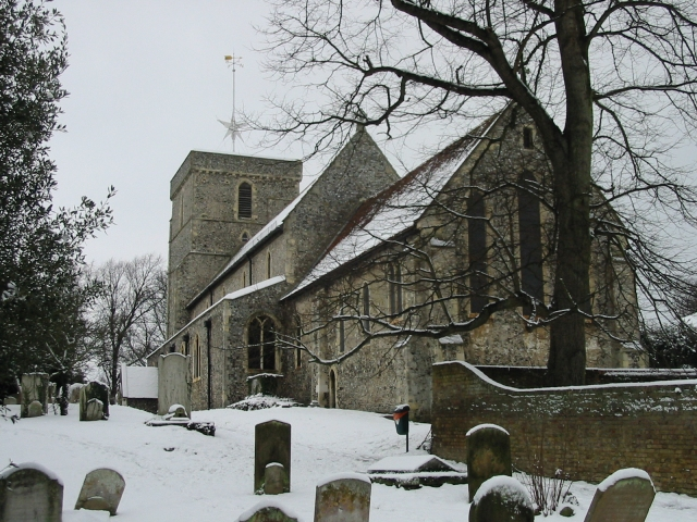 St Mary the virgin in the snow