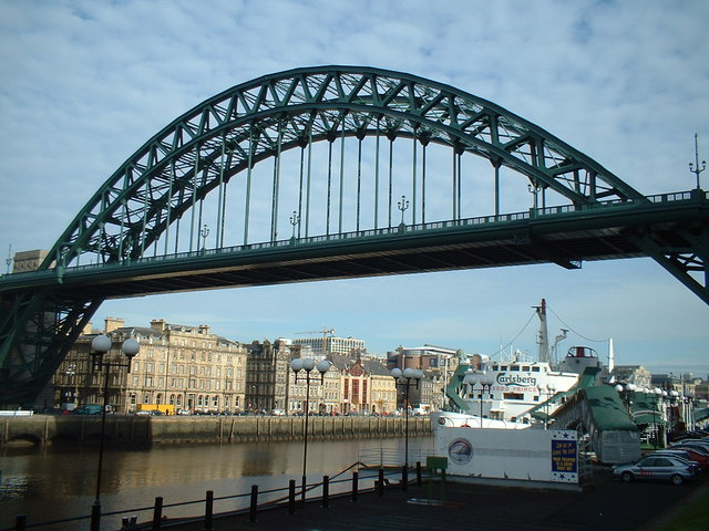The Tyne Bridge viewed from Gateshead Quayside