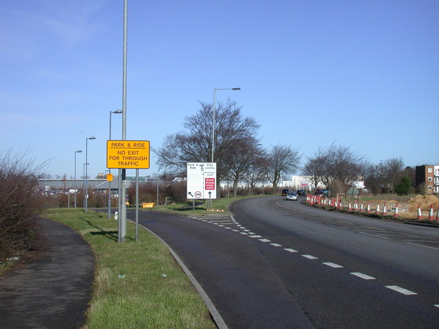 Entrance to Trumpington Park & Ride