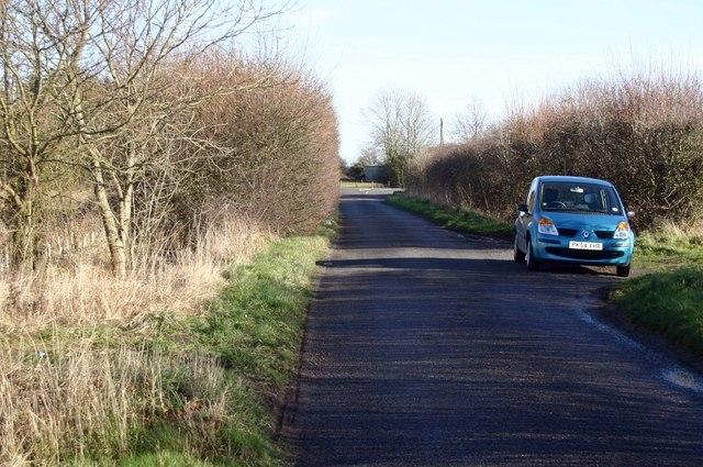 Looking along Long Lane towards Watton Road