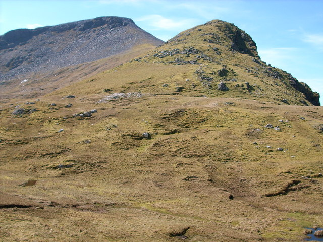 Looking up the North East ridge of Cranstackie