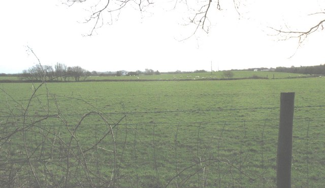 View south across farmland in the direction of the B4354