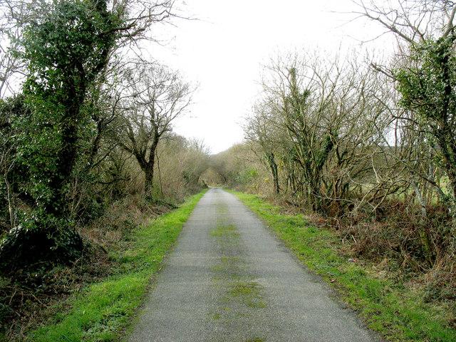 Minor road to Mynydd Nefyn