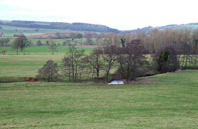 Grazing  Land by the River Corve at Lawton, Shropshire