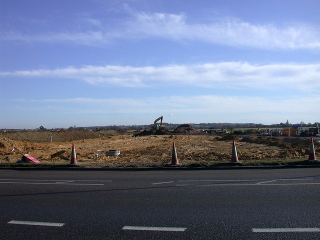 Addenbrooke's Access Road under construction