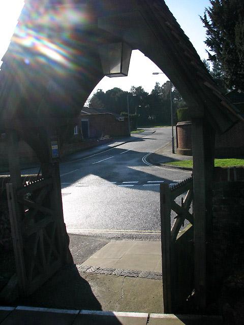 Parkside Drive viewed across Church Street