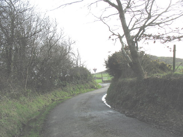 Approaching the junction with the B4354 near Frochas