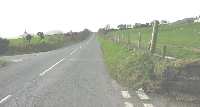 View westwards along the B4354 near Frochas