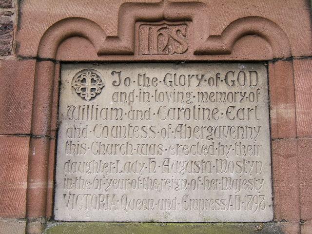 Plaque on All Saints Church, Deganwy