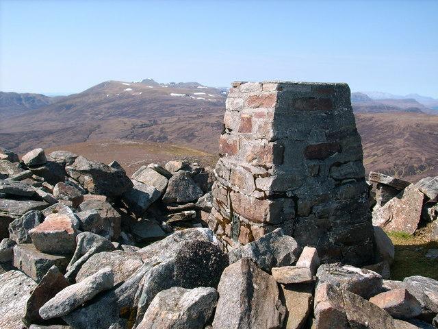 Beinn a' Bha'ach Ard summit Trig point