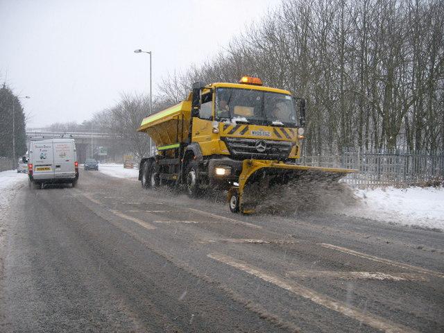 Snow Plough on Grane Road