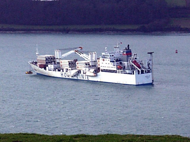 Horncliff moored in Carrick Roads