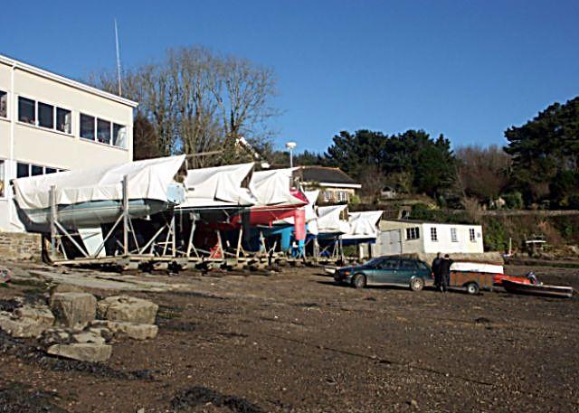 Yachts laid-up at Percuil