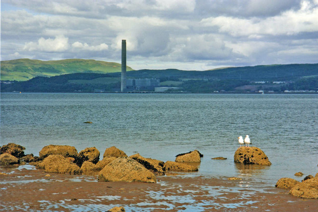 Firth of Clyde from beach at Innellan, Cowal Peninsula