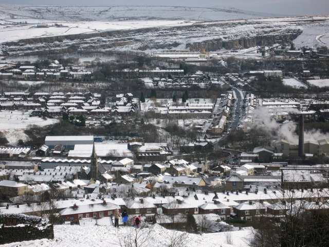 Snow covered Ramsbottom