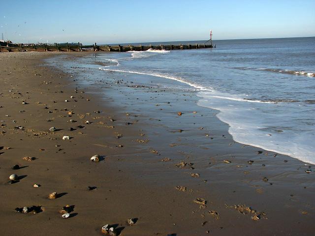 The beach at Walcott Gap