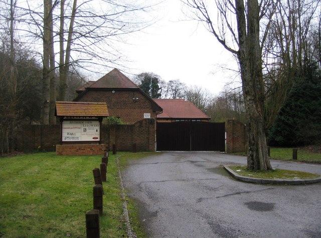 Entrance gates to Riverside View